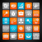 Set of glossy business and money web icons