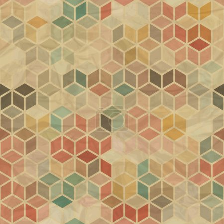 Illustration pour Modèle géométrique rétro sans couture . - image libre de droit