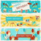 Happy Birthday horizontal banners