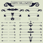 Halloween collection of design elements