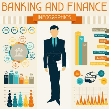 Illustration pour Infographie bancaire et financière . - image libre de droit