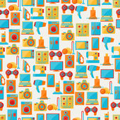 Home appliances and electronics seamless patterns