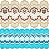 Old lace ribbons abstract ornament Vector texture