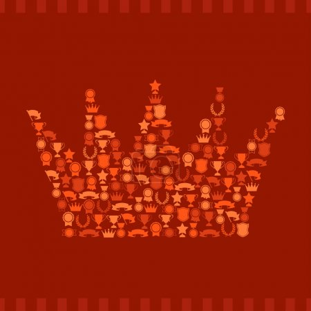 Trophies and awards icons in the form of crown.