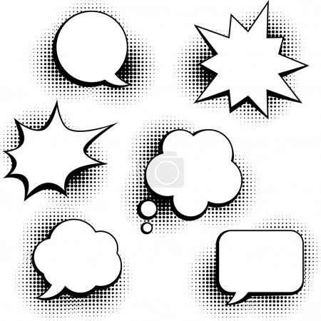 Illustration for Set of speech bubbles in pop art style. - Royalty Free Image