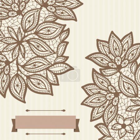 Vintage lace background, abstract ornament. Vector...