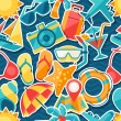 Travel and tourism seamless pattern....