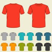 Vorlagensatz farbige T-shirts für Männer