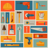 Repair and construction working tools icon set