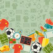 """Постер, картина, фотообои """"спортивный фон с иконы стикер футбол (футбол)."""""""