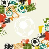 Sports background with soccer (football) flat icons