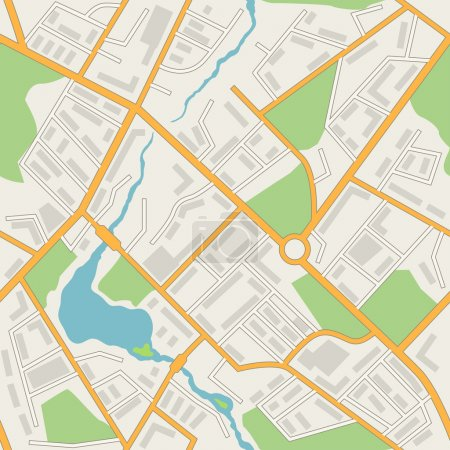 Illustration for City map abstract seamless pattern vector background. - Royalty Free Image