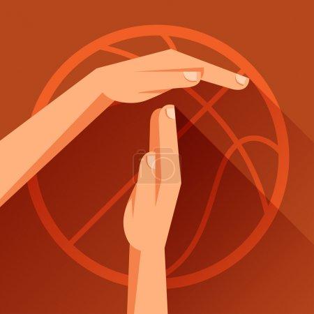 Illustration pour Illustration de sport avec signe de basket-ball timeout . - image libre de droit
