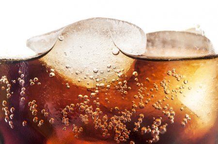 Photo for Glass of cold coke with ice cubes - Royalty Free Image