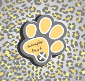Abstract background with leopard print