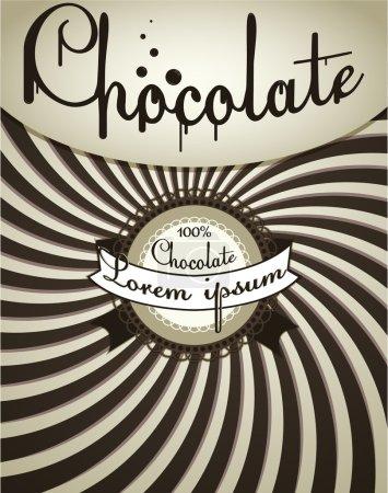 Illustration pour Chocolat fond - image libre de droit