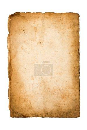 Photo pour Vieux papier sale isolé sur blanc - image libre de droit