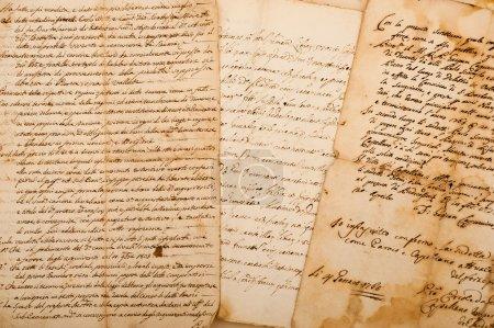 Foto de Postal en manuscrito - Imagen libre de derechos