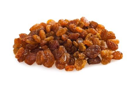 Sultana raisins isolated on white...