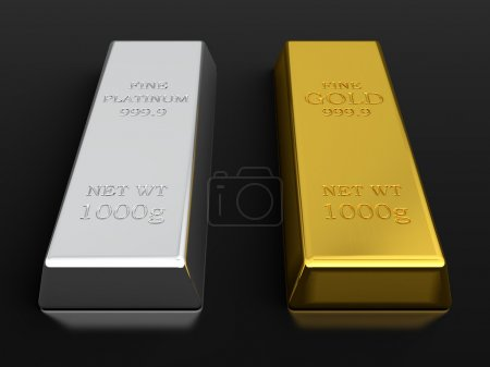 Gold and platinum ingots