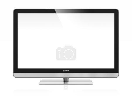 Photo pour Image 3D de la télévision haute définition isolée sur blanc - image libre de droit