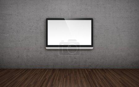 TV screen on wall