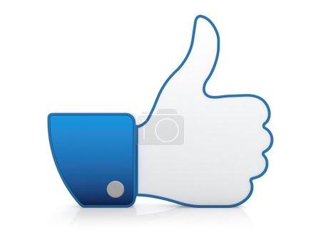 Foto de Ilustración 3D de pulgar en el icono aislado sobre fondo blanco - Imagen libre de derechos