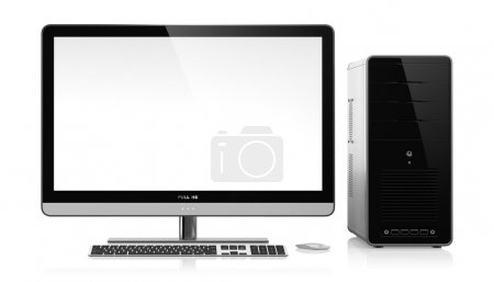 Photo for 3D illustration of modern computer isolated on white background - Royalty Free Image
