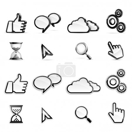 Vector set of different high detailed media icons....