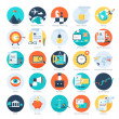 Vector collection of colorful flat business and fi...