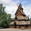 Gol stave church in Folks museum Oslo, old wooden ...