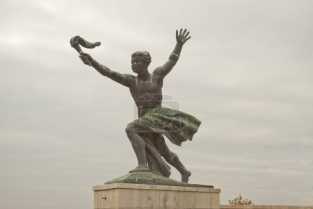 The Liberty Statue in Budapest (Hungary)