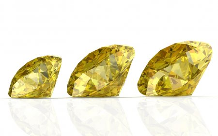 Yellow sapphire (high resolution 3D image)...
