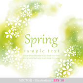 Spring Four seasons calendar days of the year cover of the title page Colorful hand drawn design from watercolor stains Vector illustration