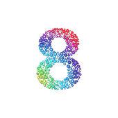 Circle rainbow number 8