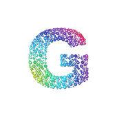 Circle rainbow letter G