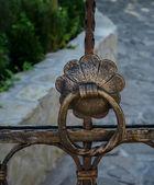 Old garden gate .