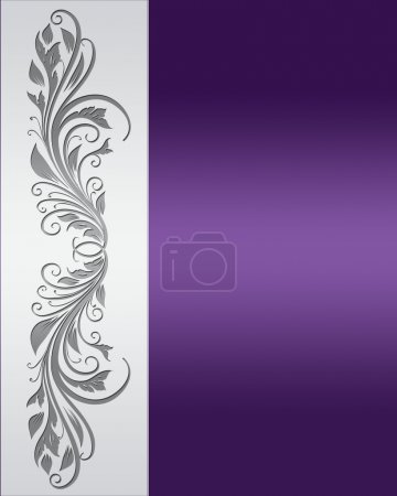 Illustration for Vintage purple and silver frame with place for the text. - Royalty Free Image