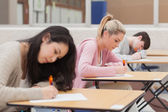 Studenti během zkoušky