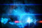 Modré zářící technologie a design