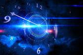 Zářící technologie a design s hodinami