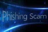 útok typu phishing na digitální displej