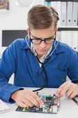 Technik poslechu cpu se stetoskopem