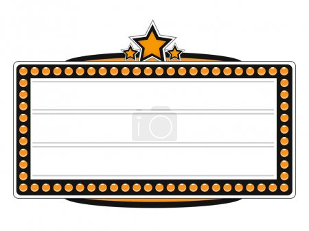 Blank Cinema Billboard Vector Design