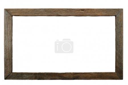 Photo pour Cadre en bois isolé fabriqué par la technique de combustion du bois . - image libre de droit
