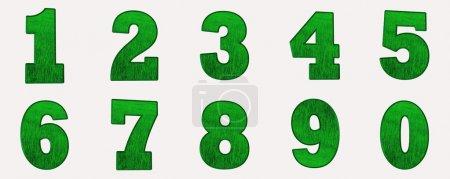 Photo pour Numéros dans l'herbe verte - image libre de droit
