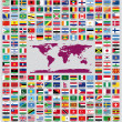 Updated and official country flags around the world in alphabetical order (212 Flags)