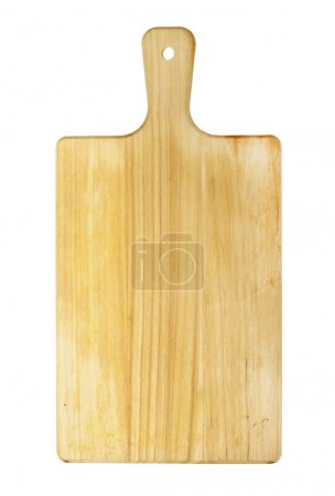 Photo for Wooden chopping board isolated on white background - Royalty Free Image