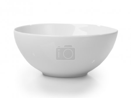 White bowl isolated on white background...