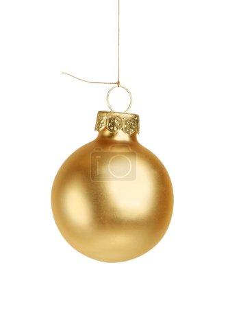 Little golden christmas ball isolated